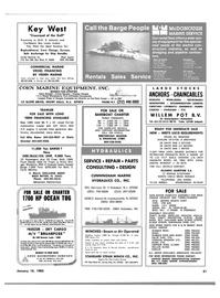 Maritime Reporter Magazine, page 47,  Jan 15, 1983 Louisiana