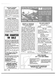 Maritime Reporter Magazine, page 73,  Mar 1983 New Jersey