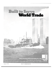 Maritime Reporter Magazine, page 11,  Aug 1983 World Trade Center