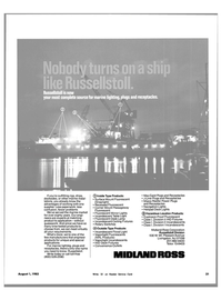 Maritime Reporter Magazine, page 19,  Aug 1983 Division I Incandescents Midland-Ross Corporation