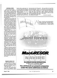 Maritime Reporter Magazine, page 23,  Aug 1983 deck equipment