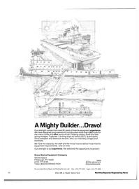 Maritime Reporter Magazine, page 54,  Aug 1983 Dravo Marine Equipment Company
