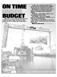 Maritime Reporter Magazine, page 33,  Oct 1983 economical steel construction