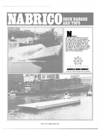 Maritime Reporter Magazine, page 3rd Cover,  Oct 1983 NASHVILLE BRIDGE COMPANY