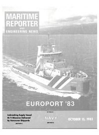 Maritime Reporter Magazine Cover Oct 15, 1983 -