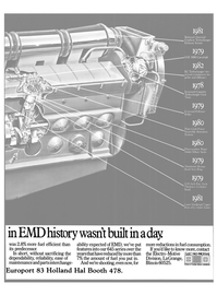 Maritime Reporter Magazine, page 31,  Oct 15, 1983 Electro-Motive ELECTRO MOTIVE Division