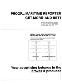 Maritime Reporter Magazine, page 46,  Oct 15, 1983 Chains/Mooring Systems