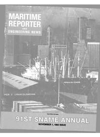Maritime Reporter Magazine Cover Nov 1983 -
