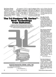 Maritime Reporter Magazine, page 26,  Nov 1983 DL Series Tri-Feature Diesel Engine