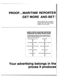 Maritime Reporter Magazine, page 64,  Nov 1983 Chains/Mooring Systems