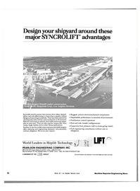 Maritime Reporter Magazine, page 72,  Nov 1983 shiplift systems