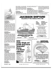 Maritime Reporter Magazine, page 73,  Nov 1983