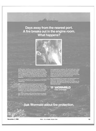 Maritime Reporter Magazine, page 91,  Nov 1983 maintained fire protection systems
