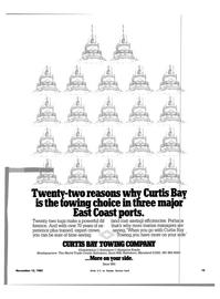 Maritime Reporter Magazine, page 13,  Nov 15, 1983 Curtis Bay