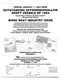 Maritime Reporter Magazine, page 53,  Nov 15, 1983 WATERWAYS JOURNAL