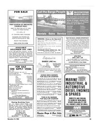 Maritime Reporter Magazine, page 43,  Dec 15, 1983