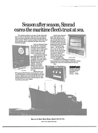 Maritime Reporter Magazine, page 3rd Cover,  Jan 1984 least expensive doppler log systems