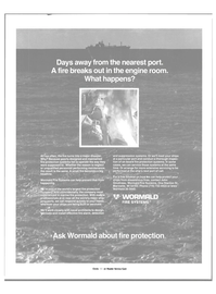 Maritime Reporter Magazine, page 4th Cover,  Jan 1984 maintained fire protection systems