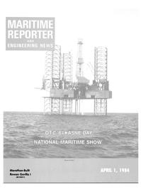 Maritime Reporter Magazine Cover Apr 1984 -