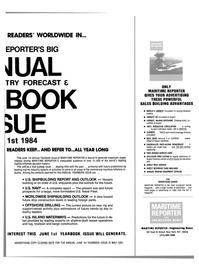 Maritime Reporter Magazine, page 57,  Apr 1984
