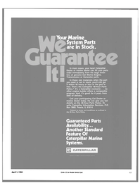 Maritime Reporter Magazine, page 59,  Apr 1984 Caterpillar Marine Systems