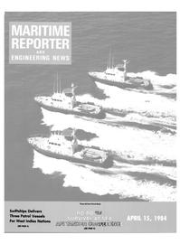 Maritime Reporter Magazine Cover Apr 15, 1984 -