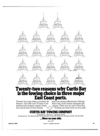 Maritime Reporter Magazine, page 13,  Apr 15, 1984 Curtis Bay