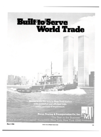 Maritime Reporter Magazine, page 9,  May 1984 Serve World Trade