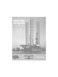 Maritime Reporter Magazine Cover May 15, 1984 -