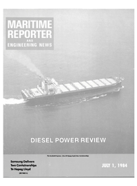 Maritime Reporter Magazine Cover Jul 1984 -