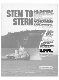 Maritime Reporter Magazine, page 23,  Jul 1984 Caterpillar Tractor Co.