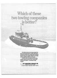 Maritime Reporter Magazine, page 19,  Jul 15, 1984 HARBOR AND COASTWISE TOWING