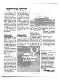 Maritime Reporter Magazine, page 13,  Aug 1984