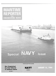 Maritime Reporter Magazine Cover Aug 15, 1984 -