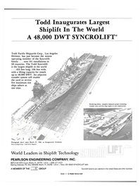 Maritime Reporter Magazine, page 4th Cover,  Aug 15, 1984 GROUP Syncrolift Systems