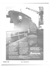 Maritime Reporter Magazine, page 3,  Sep 1984 chemical carriers
