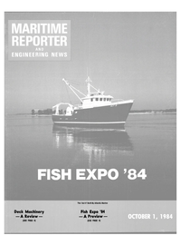 Maritime Reporter Magazine Cover Oct 1984 -