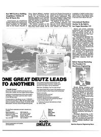 Maritime Reporter Magazine, page 58,  Oct 1984