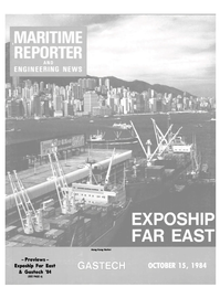Maritime Reporter Magazine Cover Oct 15, 1984 -