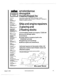 Maritime Reporter Magazine, page 19,  Oct 15, 1984 Switzerland STB-ltalia S.R.L. Shipping Technical Bureau