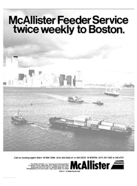 Maritime Reporter Magazine, page 1,  Oct 15, 1984 McAllister Brothers Inc.