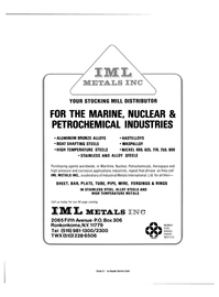 Maritime Reporter Magazine, page 3rd Cover,  Oct 15, 1984 Industrial Metals International Ltd.