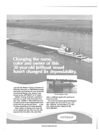 Maritime Reporter Magazine, page 4th Cover,  Oct 15, 1984 Jeffboat