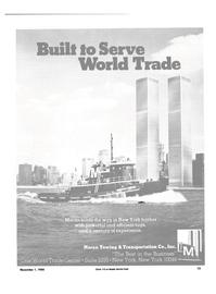 Maritime Reporter Magazine, page 11,  Nov 1984 World Trade Center