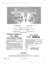 Maritime Reporter Magazine, page 15,  Nov 1984 PIPE FITTING SYSTEMS
