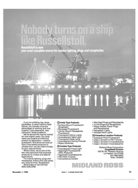Maritime Reporter Magazine, page 19,  Nov 1984 Division I Incandescents Midland-Ross Corporation