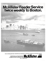 Maritime Reporter Magazine, page 1,  Nov 1984 McAllister Brothers Inc.