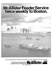 Maritime Reporter Magazine, page 1,  Nov 1984 McAllister Brothers Inc.