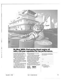Maritime Reporter Magazine, page 71,  Nov 1984 diesel engine oil