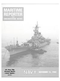 Maritime Reporter Magazine Cover Nov 15, 1984 -